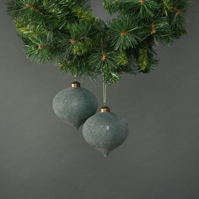 Celeste Glass Onion Bauble Jade (S/4)