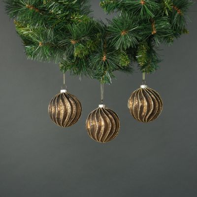 Meri 8cm Glass Bauble (S/4)
