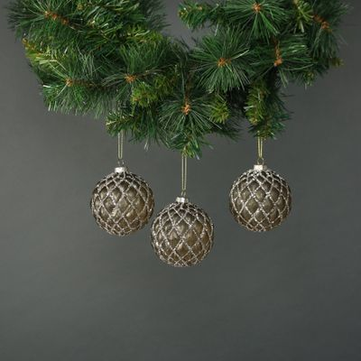 Asteria 8cm Glass Bauble (S/4)