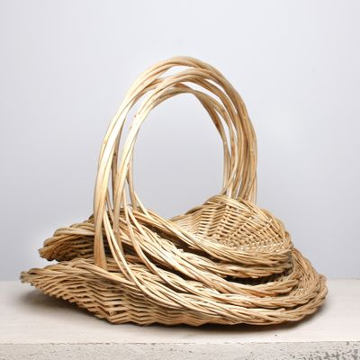 S/5 Willow Display Baskety W/Handle