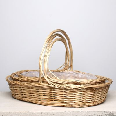 S/3 Oval Willow Basket
