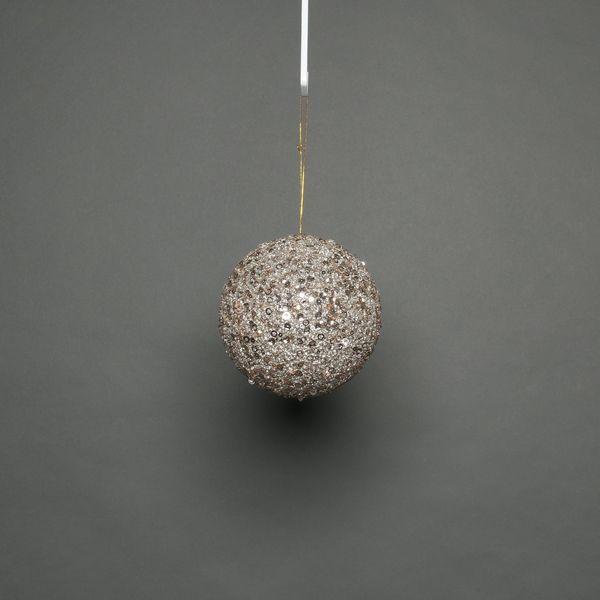 Champagne 8cm glitter bauble