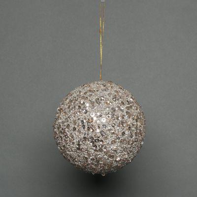 Champagne 18cm glitter bauble