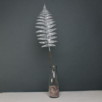 Glitter Fern leaf Silver