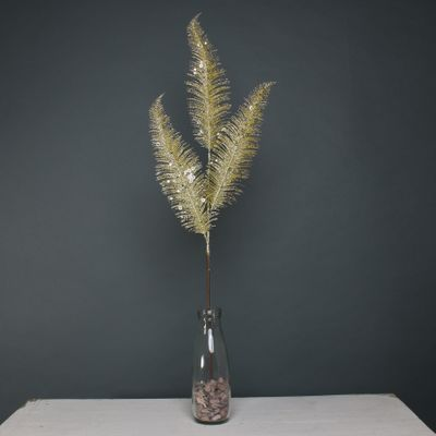 Glitter 3 Fern leaf Gold stem