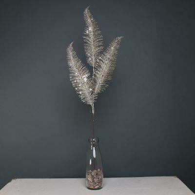 Glitter 3 fern leaf champagne stem
