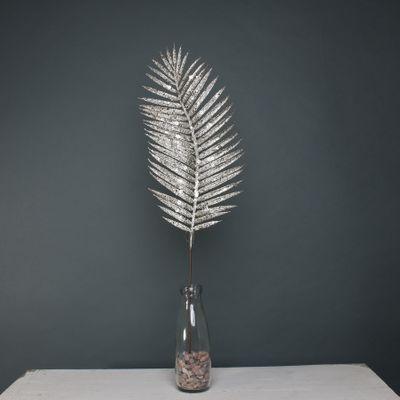 Glitter palm leaf 70cm Champagne stem