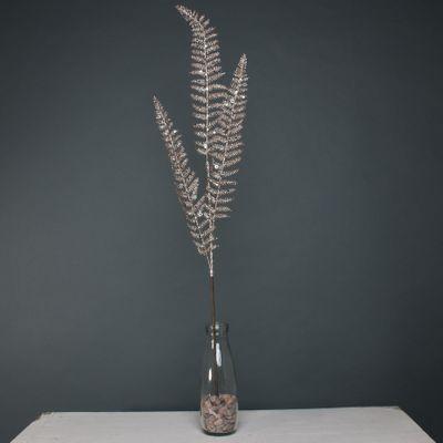 Glitter 3 leaf palm Champagne stem