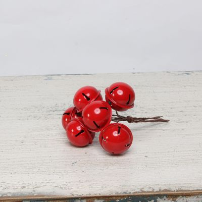 Bells on wire x 6 Red