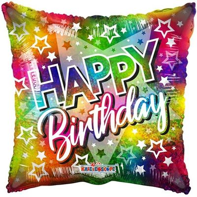 Birthday Big Star Multicolour Balloon (18 inch)