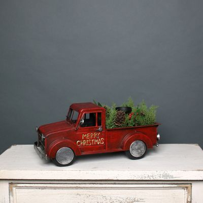 Vintage Christmas Truck w/Trees (S)