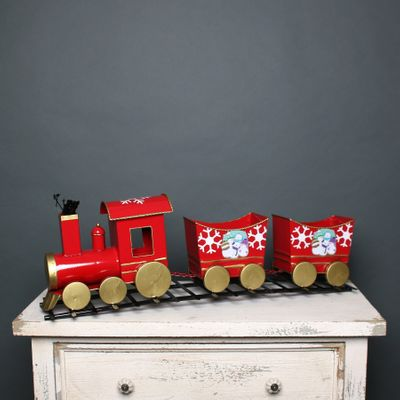 Christmas Train Red & Gold