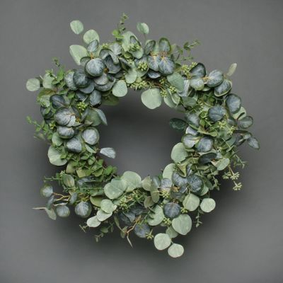 Eucalytus and White berry Wreath 67cm
