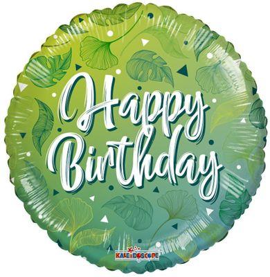 ECO ONE Balloon - Birthday Green Motifs (18 inch)