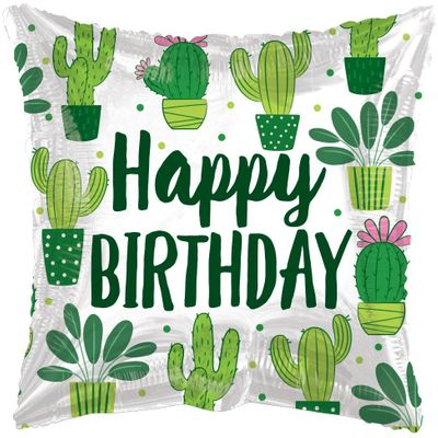 ECO ONE Balloon - Birthday Cactus (18 inch)