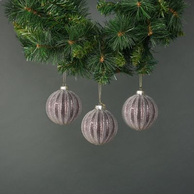 Dariyah 8cm Glass Pumpkin Bauble (S/4)