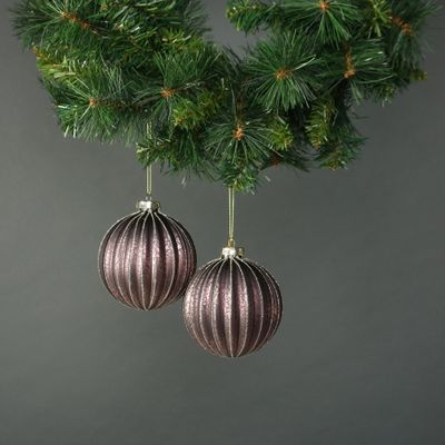 Isla 10cm Glass Pumpkin Bauble (S/4)