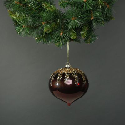Zanna 15cm Glass Onion Bauble (1)