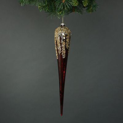 Zanna Glass Icicle Bauble (S/4)