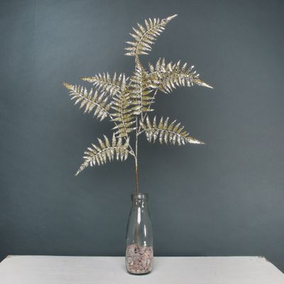 Glitter Fern spray Gold