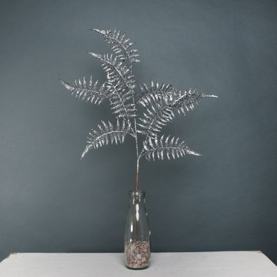 Glitter Fern spray Pewter
