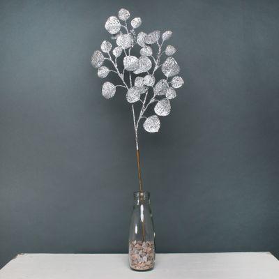 Glitter Eucalpyus spray Silver