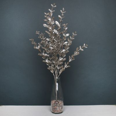 Glitter boxwood spray Champagne