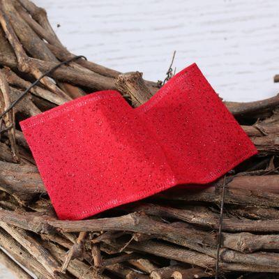Red sparkle ribbon w/e 63mm x 10yd