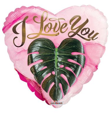 ECO ONE Balloon - Love you heart leaf (18 inch)