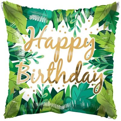 ECO ONE Balloon - Birthday Foliage (18 inch)