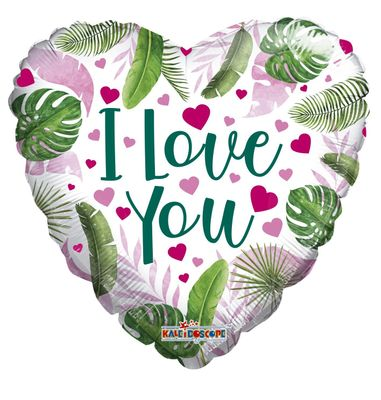 ECO ONE Balloon - Love Hearts and Leaves (18 inch)
