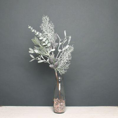 Pine and cone spray frosted