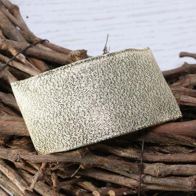 Gold metallic ribbon w/e 63mm x 10yd