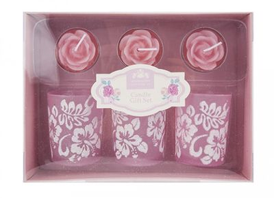 Rose Candle Gift Set