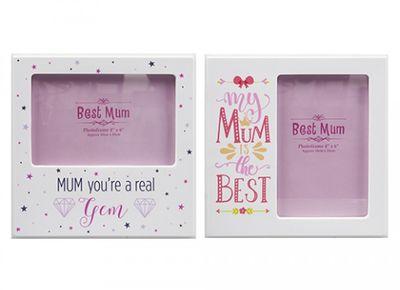 Mum Colour Printed Photo Frame (2 Asstd - 6 x 4 inch)