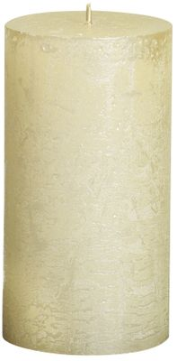 Bolsius Rustic Metallic Candle - Ivory (130mm x Dia68mm)  (Burn Time : 48 hours)