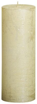 Bolsius Rustic Metallic Candle - Ivory (190mm x Dia68mm)  (Burn Time : 65 hours)