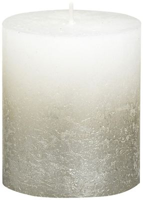 Bolsius Rustic Metallic Candle 80 x 68 - Faded Champagne White