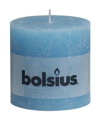 Bolsius Rustic Pillar candle Aqua (100 mm x 100 mm)