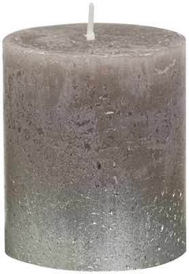 Bolsius Rustic Metallic Candle 80 x 68 - Faded Champagne Taupe