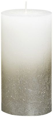 Bolsius Rustic Metallic Candle 130 x 68 -  Faded Champagne White