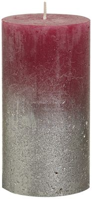 Bolsius Rustic Metallic Candle 130 x 68 - Faded Champagne Wine-red