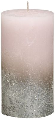 Bolsius Rustic Metallic Candle 130 x 68 - Faded  Champagne Pink