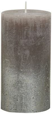 Bolsius Rustic Metallic Candle 130 x 68 - Faded Champagne Taupe