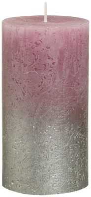 Bolsius Rustic Metallic Candle 130 x 68 - Faded Champagne Old Pink