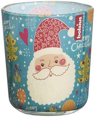 Scented Vanilla glass - Christmas Happy Santa 80/73