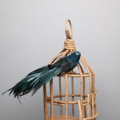 Blue Velvet Bird w/clip