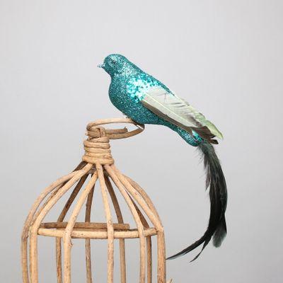 Blue Paradise Bird w/clip