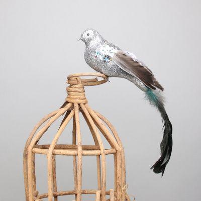 Silver Paradise Bird w/clip