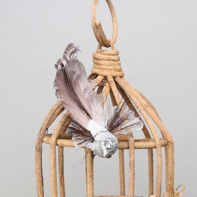 Silver Fantasy Bird w/clip